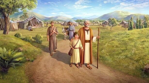 God draagt Abraham op Izaäk te offeren